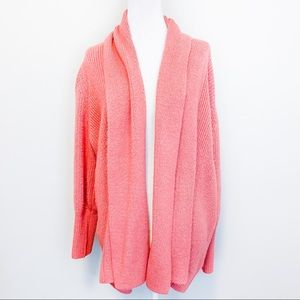Rachel Parcell Pink Oversized Shawl Open Cardigan